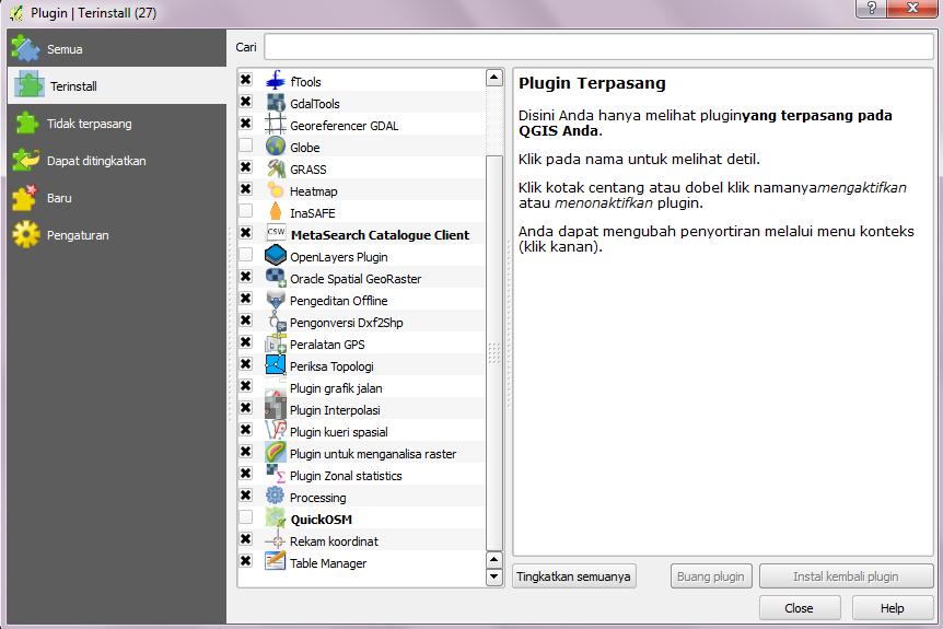 Modul 4: Plugin QGIS — dokumentasi InaSAFE Documentation Project 3 0 0
